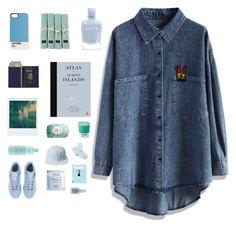 """who gave you that shirt? ew"" ""my boyfriend"" by ghettoaesthetics ❤ liked on Polyvore featuring moda, Chicwish, Zoya, Lexington, Royce Leather, Polaroid, Pantone, Fresh, Aveda y adidas"