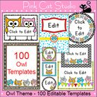 Please+note,+this+product+is+for+personal+classroom+use+only+and+may+not+be+used+in+any+commercial+or+free+products.  These+fun+owls+will+look+fant...