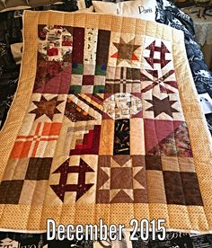 Block lotto quilt finished