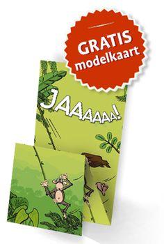 #trouwkaarten met humor. Me Tarzan, you Jane trouwkaarten