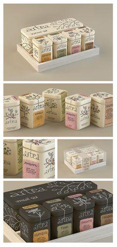 https://www.behance.net/gallery/181698/Artea-Tea-package Project by Masha Ponomareva