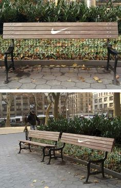 advertising, bench, creative, Examples, guerilla, inspiration, rest, Nike - Run