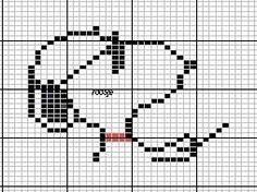 Punto de cruz: Moldes de Snoopy en punto de cruz