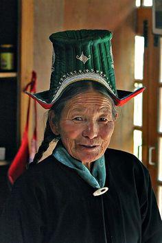 Ladakhi elderly woman