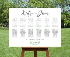 PRINTABLE Large Wedding Seating Chart, Custom Table Plan, Find Your Seat Sign, Table Assignment Board, DIGITAL FILE