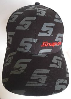 Snap-on Tools adjustable hat cap black & grey one size 100% cotton wrench S logo