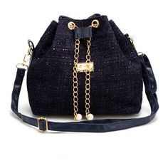 Drawchain Shoulder Bag ($34) ❤ liked on Polyvore featuring bags, handbags, shoulder bags, bolsas, shoulder bag purse, shoulder handbags, blue shoulder handbags, blue purse and blue shoulder bag