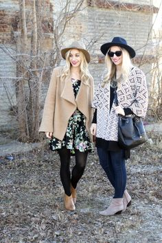 Boho looks for fall and winter: http://www.stylemepretty.com/living/2015/02/05/boho-fashion-two-ways/ | Photography: Fashion Column Twins - http://fashioncolumntwins.com/