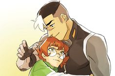 Pidge and Shiro from Voltron Legendary Defender