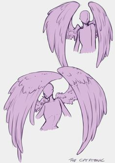 A little tip on drawing wings.