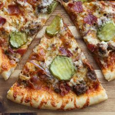Thin Crust Bacon Cheeseburger Pizza | Baked by Rachel