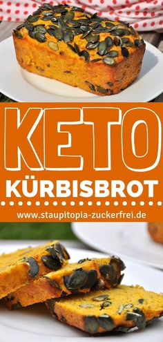 Perfekt im Herbst: Kürbisbrot ohne Mehl – Staupitopia Zuckerfrei You should try this recipe for a keto pumpkin bread without flour, because with pumpkins you can not only cook great, but also bake wonderfully! Keto Foods, Keto Snacks, Meat Recipes, Low Carb Recipes, Crockpot Recipes, Drink Recipes, Baking Recipes, Keto Bagels, Keto Bread
