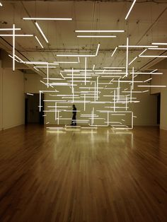 ...This is! Its a light sculpture by Lilienthal|Zamora, installed at the Frye in December, halfway through the run of Mw. Is it a stage set? An installation after the late California artist Michael Asher, who once built a physical archive of every exhibition ever held inside a certain museum?