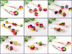 Designer Pom Pom Earrings Retail : https://www.craftnfashion.com Whatsapp : 9375519381 E-mail : craftnjewelery@gmail.com
