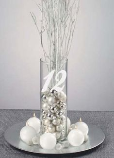 Wedding Table Numbers Frosted Etched Glass Vinyl Sticker Decals each - I'm thinking something like this or what you pinned might be easiest? How much do you think the vases would cost though? Wedding Table Decorations, Wedding Table Numbers, Christmas Centerpieces, Decoration Table, Xmas Decorations, Table Centerpieces, Wedding Centerpieces, Wedding Themes, Wedding Ideas