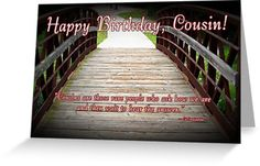 birthday wishes for cousin male   Cousin Birthday by Greeting Cards by Tracy DeVore Follow