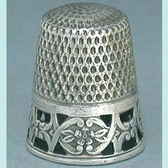 Antique Pierced Band Sterling Silver Thimble by Webster Co; Circa 1900