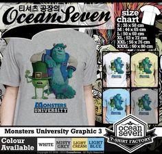 Kaos Monster University Graphic   Visit Our Website  DakocanClothing.com  Hubungi Kami Pin BB : 33016003 Whatsapp: 08888566032