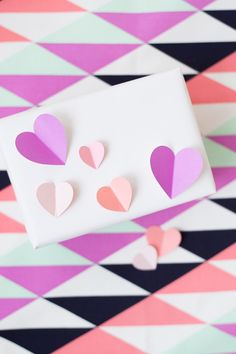 DIY 3D Heart Gift Wrap