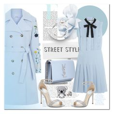 """""""DRESS + COAT"""" by ilona-828 ❤ liked on Polyvore featuring VIVETTA, Yves Saint Laurent, Gucci, René Caovilla, StreetStyle, dress and polyvoreeditorial"""