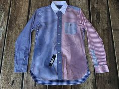 Polo Ralph Lauren Red White Blue USA Stripe Gingham Fun Shirt Mens Large  New 712168596300   eBay 54707224e65