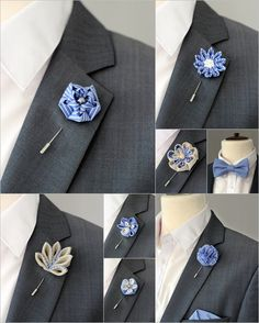 1 flower lapel pin Mens lapel flower Boutonniere by Nevestica