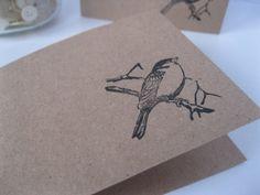 little bird craft paper card