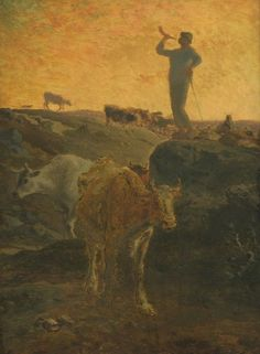 Photo Mug-Calling the Cows Home, ca. Creator: Jean Francois Millet-Photo Mug made in Australia Fine Art Prints, Framed Prints, Canvas Prints, Vincent Van Gogh, Millet Paintings, Jean Francois Millet, Cow House, Barbizon School, Painting Gallery