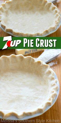 7 Up Pie Crust Recipe, Pie Crust Dough, Pie Crust Recipes, Pie Crusts, Baked Pie Crust, Pie Dessert, Dessert Recipes, Dinner Recipes, Holiday Baking