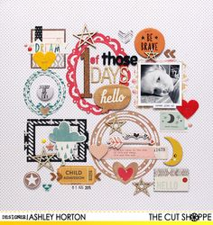 """#papercrafting #scrapbook #layout - One of those Days by Ashley Horton uses """"Picture Perfect"""" cut file."""