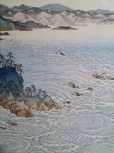 View of The Whirlpools at Naruto, Triptych (Detail) - Hiroshige Utagawa Japanese, 1797 - 1858 Woodblock Print Harvard Art Museum Japanese Waves, Japanese Art, Current Picture, Harvard Art Museum, Triptych, Woodblock Print, Art And Architecture, Bing Images, Water