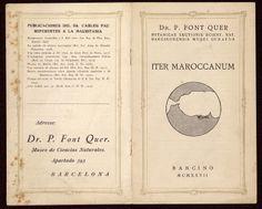 """Folleto de presentación de la exiccata """"Iter Maroccanum"""", Barcelona 1927. Incluye un  listado de publicaciones de Pius Font Quer y Carlos Pau sobre estudios de publicaciones  sobre flora de Marruecos. http://aleph.csic.es/F?func=find-c&ccl_term=SYS%3D000032841&local_base=ARCHIVOS (AIBB)"""