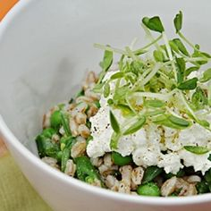 ideas recipes farro arugula pea salad farro salad with peas favas ...