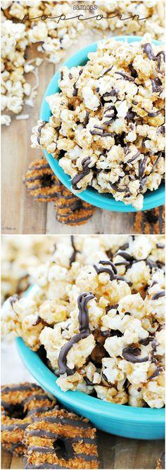 Samoas Popcorn   www.somethingswanky.com