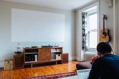 Painted Projector Screen - Adam & Ellen's Inspired Brooklyn Brownstone