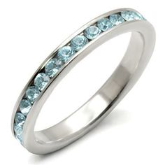 USA Seller Thin Eternity Ring Sterling Silver 925 Best Deal Jewelry Gift Size 7