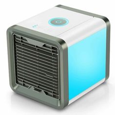 Fitfirst Personal Space Air Cooler, 3 in 1 USB Mini Portable Air Conditioner, Humidifier, Purifier and 7 Colors Nightstand, Desktop Cooling Fan for Office Home Outdoor Travel Usb, Small Air Cooler, Evaporative Air Conditioner, Artic Air, Personal Air Purifier, Evaporative Cooler, Cool Desktop, Air Humidifier, Wall Outlets