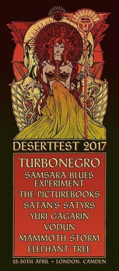 Desertfest 2017 line-up, tickets and dates. Find out who is playing live at Desertfest 2017 in Camden in Apr 2017.