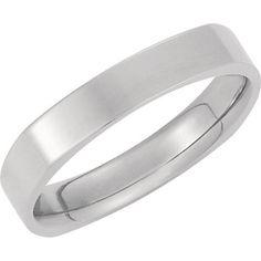 28f1de94849 14K White Gold 4mm Square Comfort Fit Plain Men s Wedding Band (Available  Ring Sizes 7-12)
