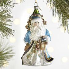 European Glass Coastal Santa Claus Ornament