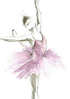 Original Ballerina-Aquarell Ballerina-Malerei von EwArtStudio