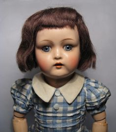 1930s K&R #917 MARILU Compo Mein Rosiger Liebling Doll (The Argentine Bleuette)