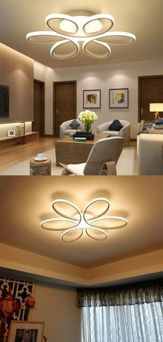 #ceiling  #architecture  #interiordesign  #design  #ceilingdesign  #interior  #homedecor #raypom Is Bulbs Included: Yes Usage: Holiday Living Room Lighting, Home Lighting, Recessed Ceiling Lights, White Bedroom, Ceiling Design, Living Room Bedroom, Light Fixtures, Interior Design, Modern
