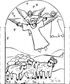 Holy Family Picture Coloring Page Advent Christmas