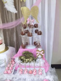 Pinklady Creations 's Baptism / Angel / Heaven - Photo Gallery at Catch My Party Baptism Themes, Baptism Decorations, Quinceanera Decorations, Baptism Party, Baby Shower Decorations, Baby Boy Christening, Baby Girl Baptism, Angel Baby Shower, Angel Theme