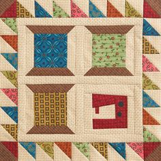 Sewing Spools Wall Quilt via http://www.allpeoplequilt.com/projects-ideas/throws-wall-hangings/sewing-spools-wall-quilt_1.html