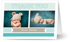 Baby Boy Thank You Cards $1.19 www.mamadoo.com.au #mamadoo #personalisedcards #thankyoucards