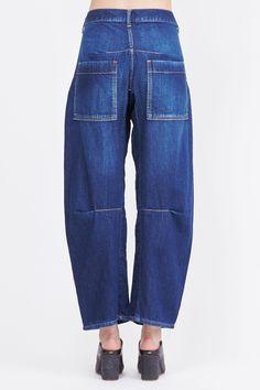Y's by Yohji Yamamoto Uneven Yarn Denim (Blue)