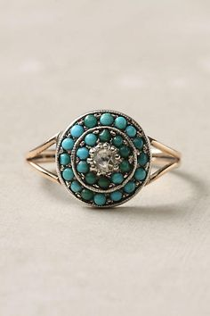 Victorian Turquoise & Diamond Ring