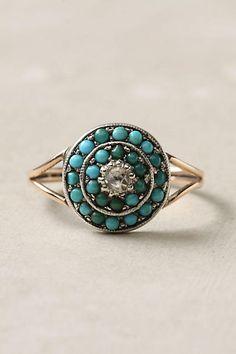 Victorian Turquoise & Diamond Ring
